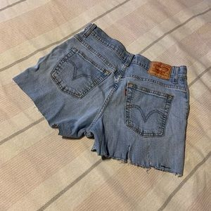 Levi Strauss 550 cut shorts